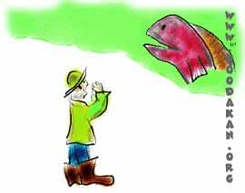 مرد ماهیگیر و همسرش